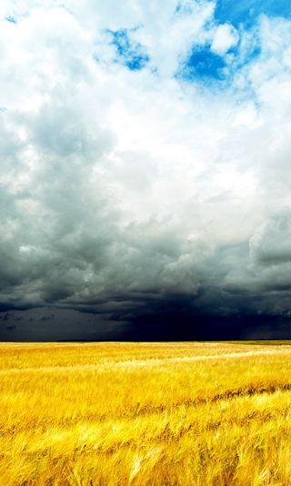 Обои на телефон шторм, облака