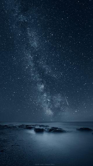 Обои на телефон бесконечность, эпл, пейзаж, океан, ночь, море, звезды, айфон, reflecting infinity, plus, iphone, apple