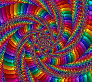 Обои на телефон твист, спираль, цветные, радуга, абстрактные, illuision