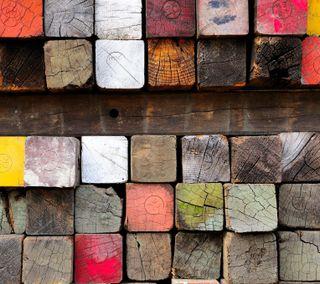 Обои на телефон квадраты, цветные, красочные, дерево, блоки, абстрактные, stack, pile, lumber, colored boards, boards