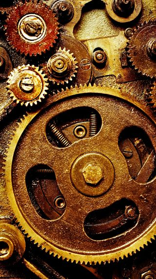 Обои на телефон шестерни, механизм, часы, worn, watchwork, rusty, intricate