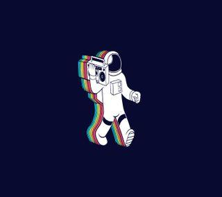 Обои на телефон минимализм, космонавт, boombox, 3д, 3d