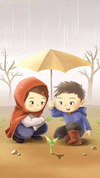 Обои на телефон дети, пара, милые, любовь, love