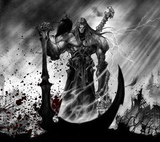 Обои на телефон война, muerte, darksaiders 2, darksaiders