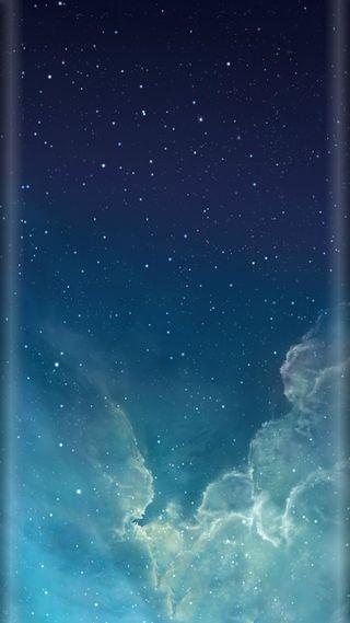 Обои на телефон стиль, синие, природа, облака, ночь, красота, звезды, грани, s7, edge style