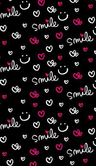Обои на телефон смайлы, сердце, розовые, неоновые, любовь, love