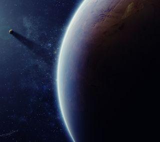 Обои на телефон планета, луна, космос, звезды
