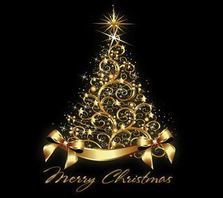 Обои на телефон роскошные, счастливое, рождество, золотые, дизайн, дерево, xmas tree by marika, luxury, by marika