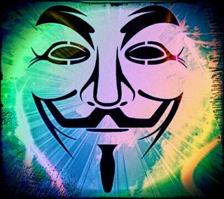 Обои на телефон цветные, маска, анонимус, anonymous 4
