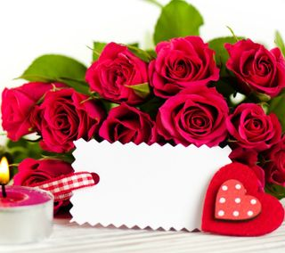 Обои на телефон ты, сердце, розы, день рождения, день, валентинка