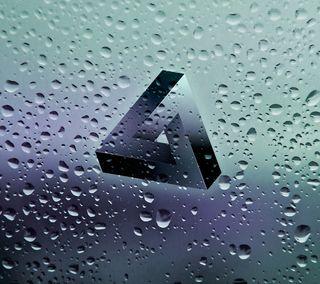 Обои на телефон мягкие, чистые, треугольник, невозможно, крутые, капли, дождь, possibly impossible, hd