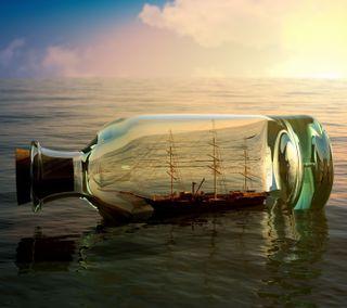 Обои на телефон корабли, стекло, бутылка, ship in a bottle, cristal, botella, bote, barco