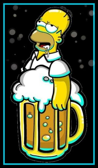 Обои на телефон гомер, симпсоны, пиво, homer simpson beer