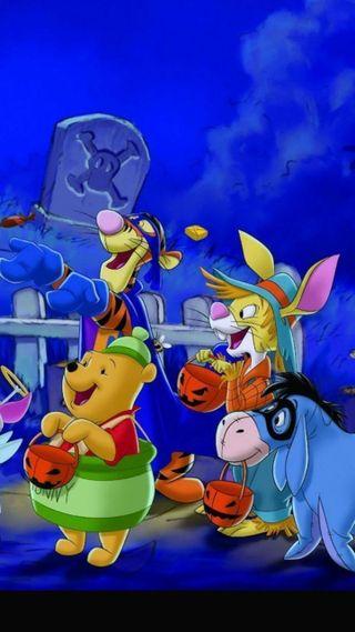 Обои на телефон кролики, хэллоуин, пух, дисней, винни, tigger, disney halloween, disney