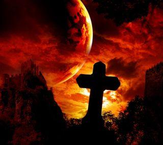 Обои на телефон кровь, крест, хэллоуин, reign