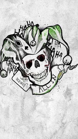 Обои на телефон карты, череп, фильмы, самоубийца, отряд, логотипы, комиксы, джокер, dc