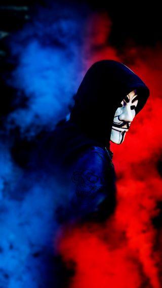 Обои на телефон тату, маска, anonymus