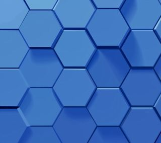 Обои на телефон шестиугольники, геометрия, синие, абстрактные, honeycombs