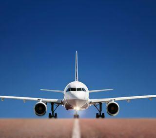 Обои на телефон солнечный свет, самолет, perfect, landing