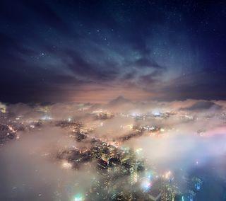 Обои на телефон нью йорк, облака, новый, город, горизонт, skyline