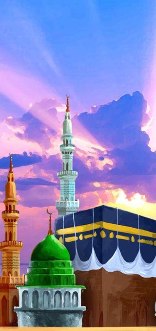 Обои на телефон мечеть, макка, город, makkah madina