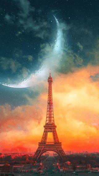 Обои на телефон планеты, париж, башня
