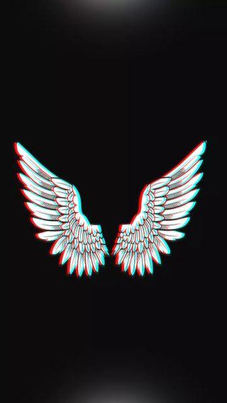 Обои на телефон темы, синие, розы, неоновые, крылья, крыло, золотые, бабочки, ангел