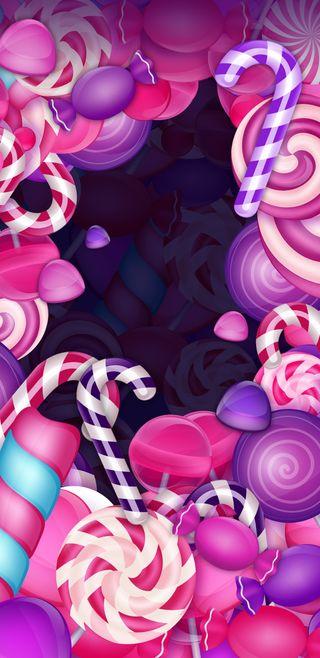 Обои на телефон фиолетовые, сладости, розовые, конфеты, lollipop, lollies