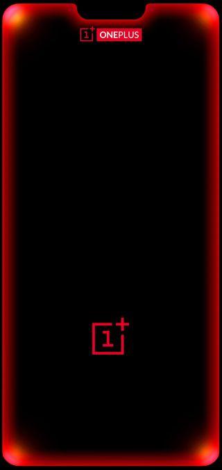 Обои на телефон шесть, смартфон, светящиеся, решить, никогда, логотипы, красые, oneplus 6 red led, oneplus, led, brightness
