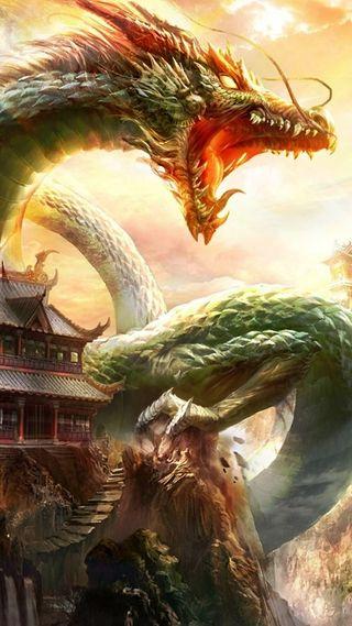 Обои на телефон китай, безумные, фантазия, дракон, dragon