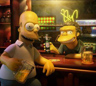 Обои на телефон симпсоны, пиво, мультфильмы, гомер