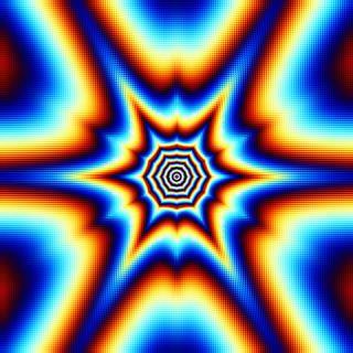 Обои на телефон иллюзии, фрактал, странные, синие, красые, космос, звезда, желтые, вихрь, белые