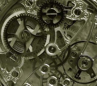 Обои на телефон mechanism, inside time, время, круги, часы, внутри