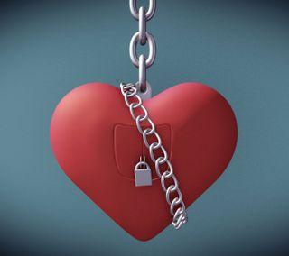 Обои на телефон цепь, блокировка, сердце, любовь, красые, reserved, love