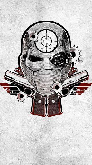 Обои на телефон отряд, фильмы, самоубийца, оружие, логотипы, комиксы, deadshot, dc