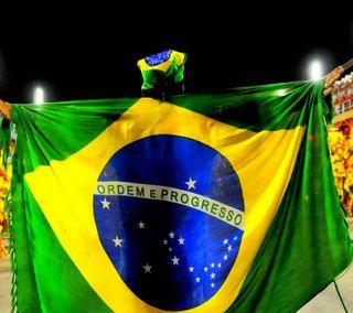 Обои на телефон флаги, нация, бразилия