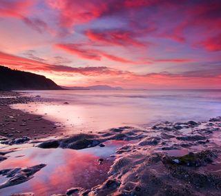 Обои на телефон восход, пляж