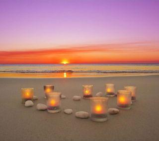 Обои на телефон свечи, природа, закат