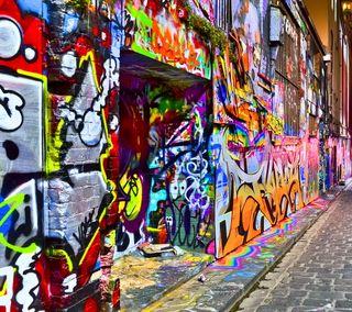Обои на телефон граффити, улица, стена, природа, арт, art