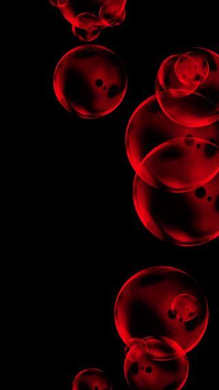 Обои на телефон айфон 7, пузыри, красые, абстрактные, iphone7plus