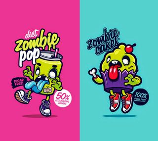 Обои на телефон зомби, крутые, забавные