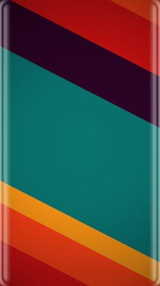 Обои на телефон полосы, оранжевые, красочные, зеленые, грани, абстрактные, s7 edge