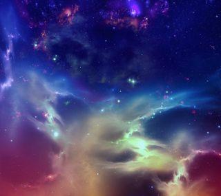 Обои на телефон туманность, облака, красочные, космос, галактика, galaxy
