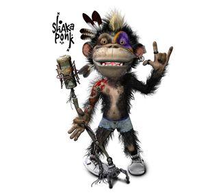 Обои на телефон рок, обезьяны, забавные, shaka ponk