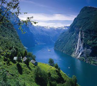 Обои на телефон река, приятные, прекрасные, милые, горы, взгляд, mountain river