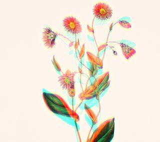 Обои на телефон сбой, цветы, ретро