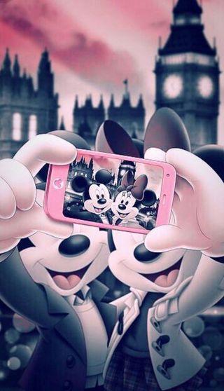 Обои на телефон счастливые, мультфильмы, микки, маус, луна, selfy, mobil, happy