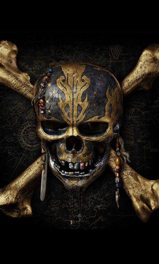 Обои на телефон постер, пираты, карибсий, джек, воробей, potc 5