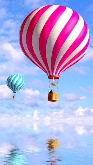 Обои на телефон шары, розовые, air