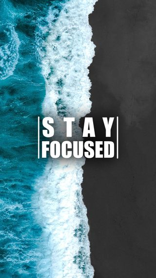 Обои на телефон берег, цитата, поговорка, пляж, океан, мотивация, море, stay focused 6, stay, focused, aerial